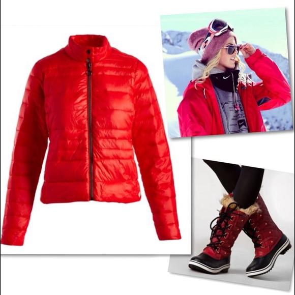 Vero Moda Jackets & Blazers - VERO MODA ALLEGRA SORAYA RED PUFFER COAT L